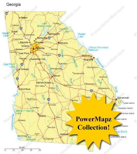Georgia Map Powermapz Pack