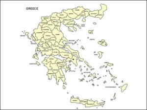 Map of Greece with Provinces