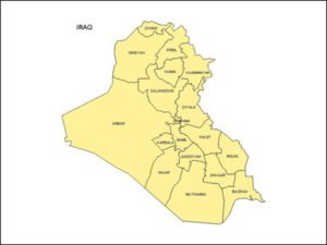 Map of Iraq with Provinces
