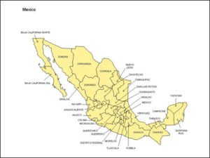 Mexico Map with Provinces