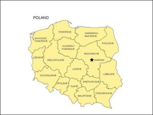 Map of Poland with Provinces