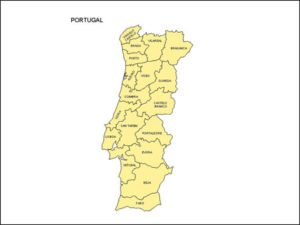 Map of Portugal with Provinces