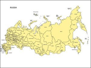 Map of Russia with Provinces