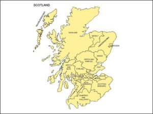 Map of Scotland with Provinces