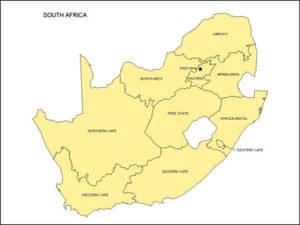 South Africa Map with Provinces