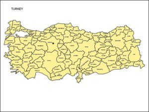 Map of Turkey with Provinces