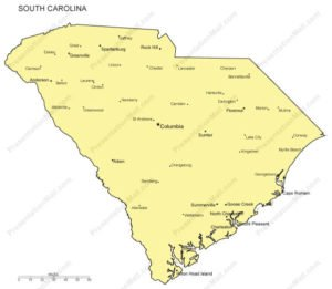 South Carolina city map