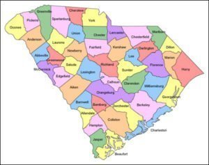South Carolina County PowerPoint Map