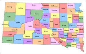 South Dakota County Map PowerPoint