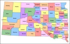 South Dakota County Map PowerPoint
