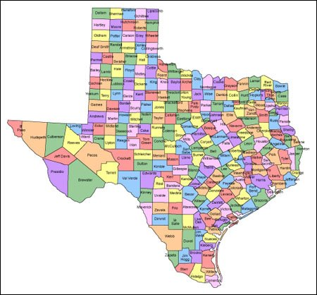 Texas Map Of Counties With Names.Texas Map For Websites Clickable Html Image Map