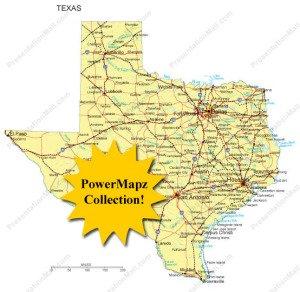 Editable Texas Maps